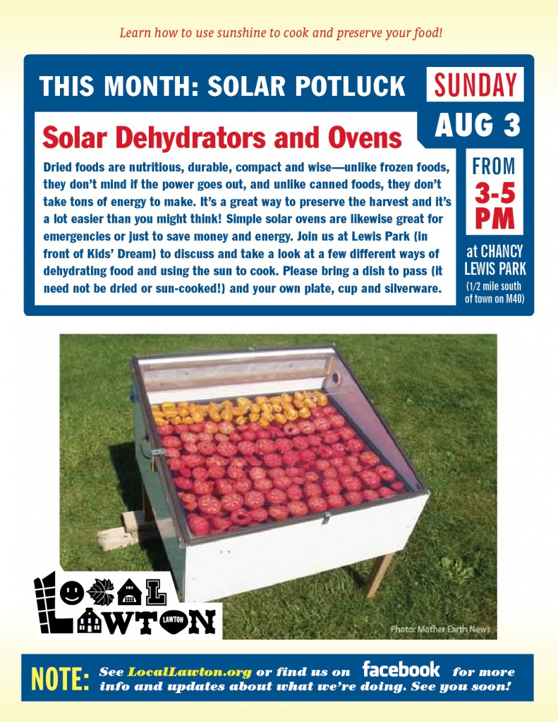 Local Lawton Solar Potluck Flyer
