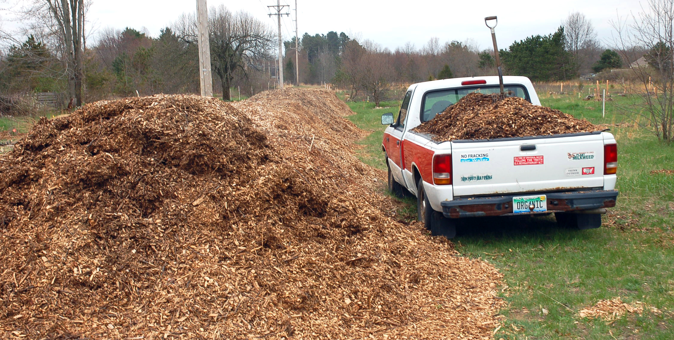 Moving Woodchips at PJ's