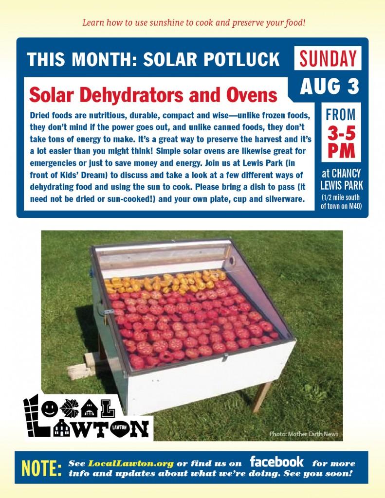 Local Lawton Solar Potluck Flyer